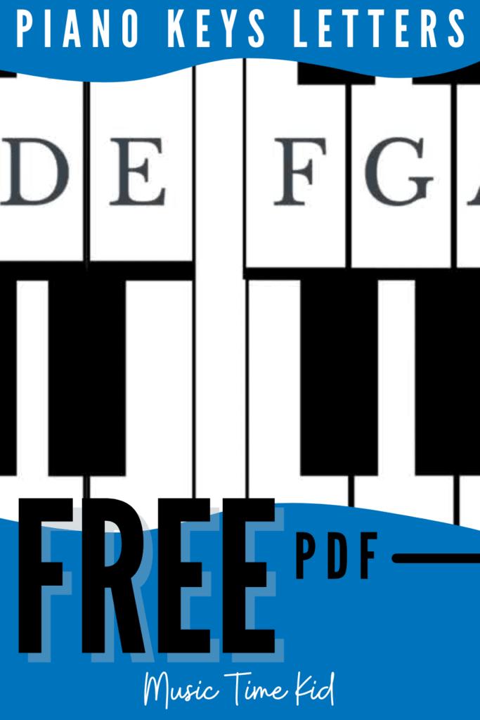piano keys letters
