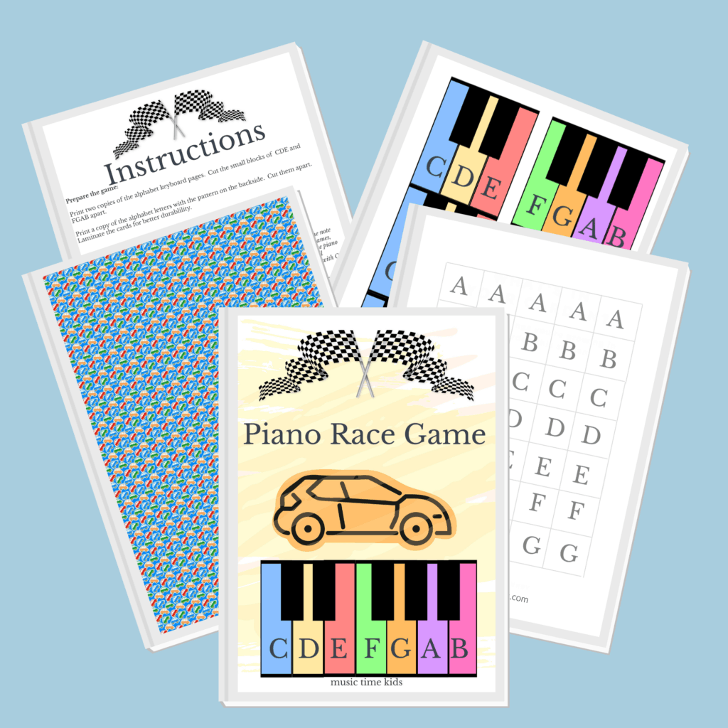 race game preschool piano