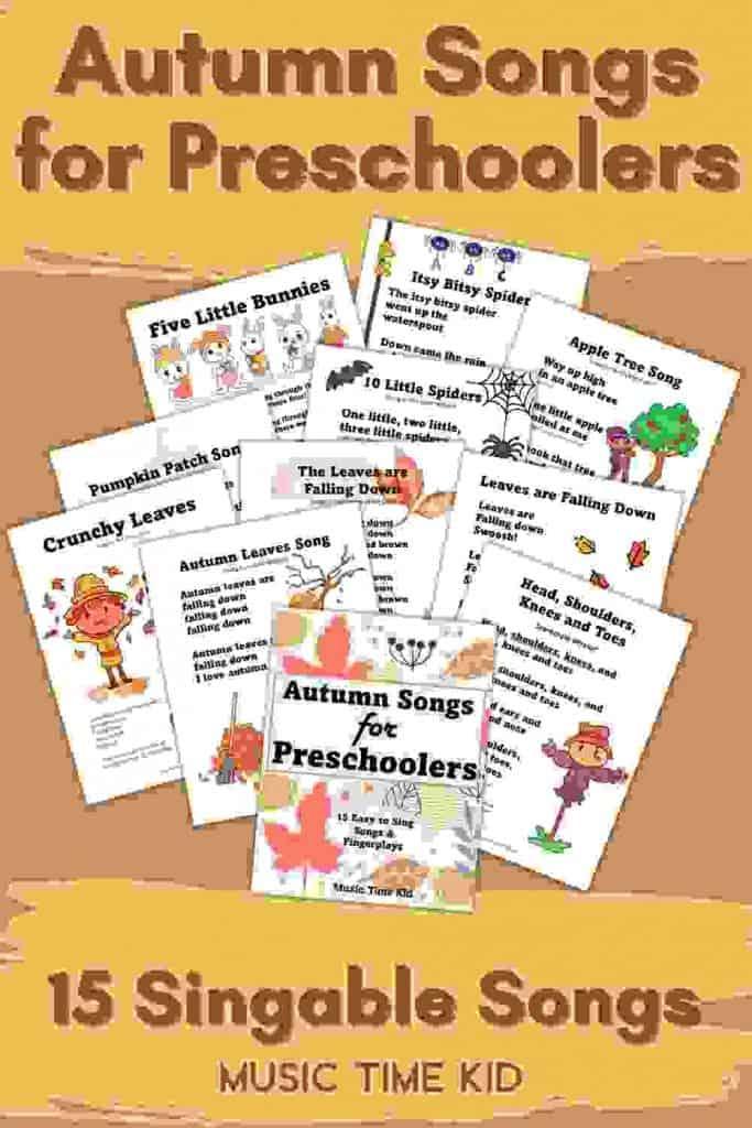 15 autumn songs for preschoolers