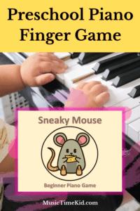 preschool piano finger game for piano practice