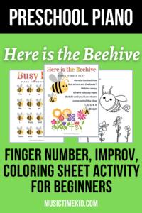 preschool piano activity
