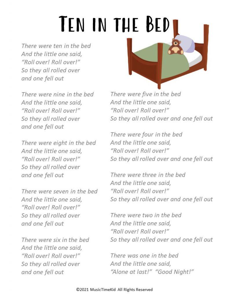 10 in the bed lyrics