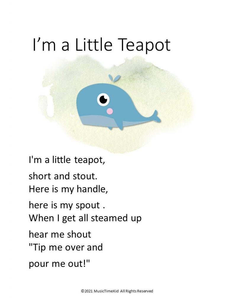 I'm a little Teapot action song