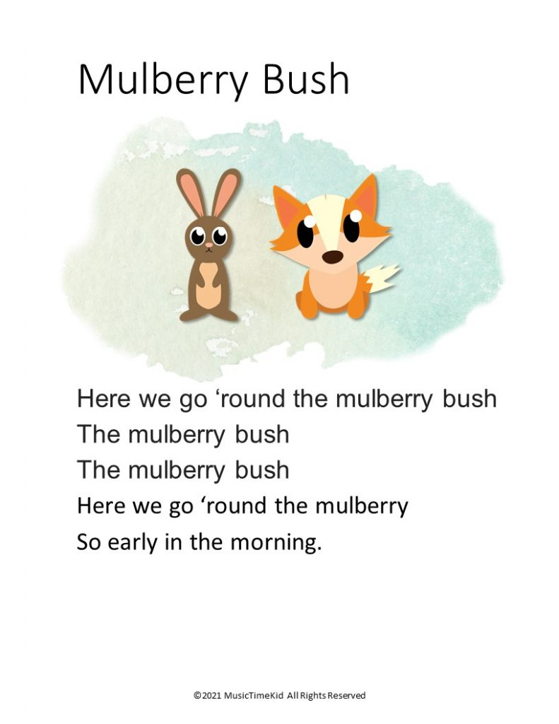 actions songs mulberry bush
