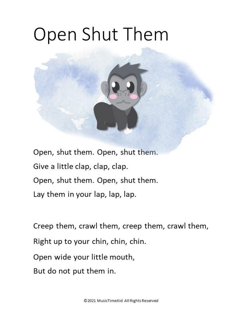 open shut them