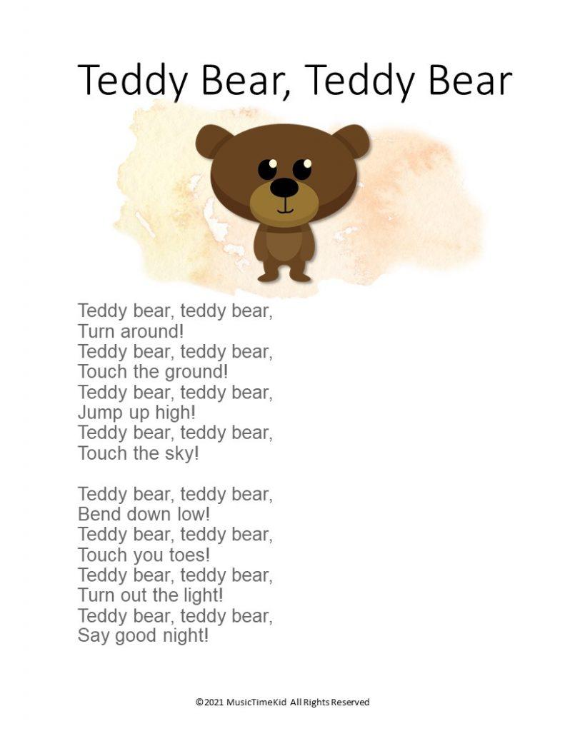 Teddy Bear Teddy Bear song