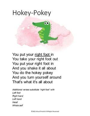 hokey pokey action song