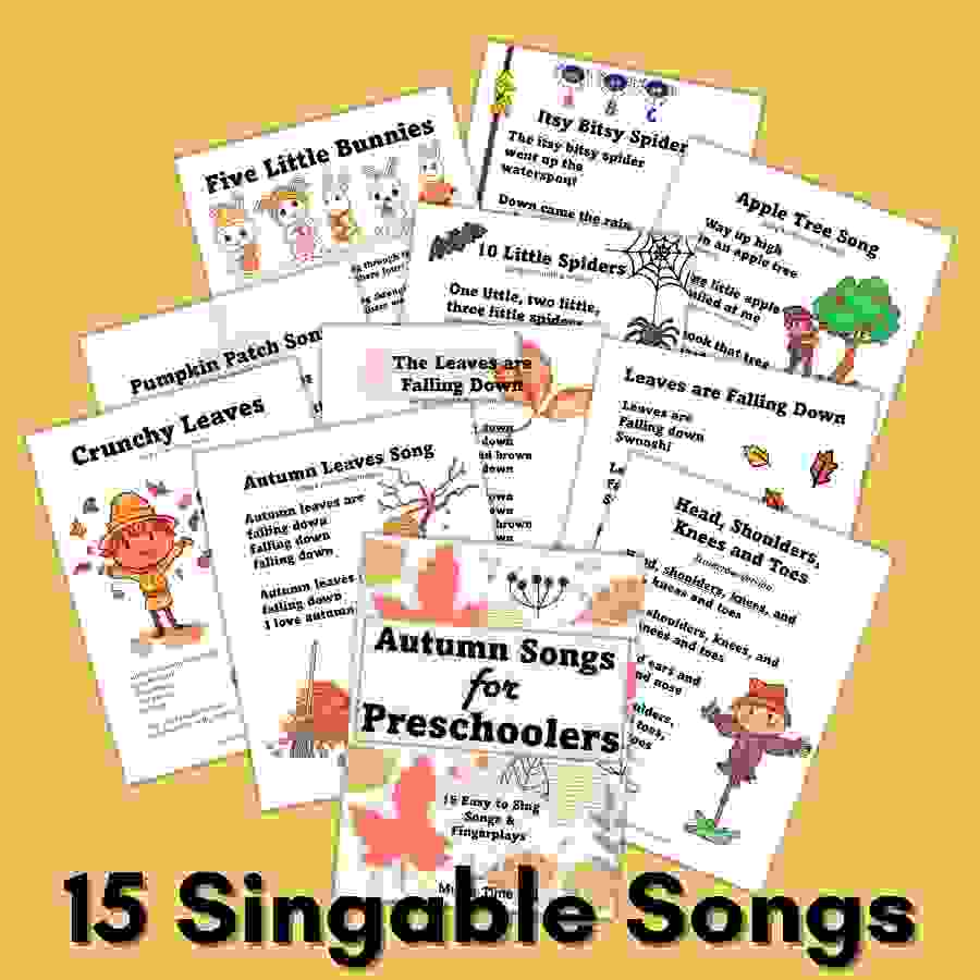 15 singable autumn songs for preschoolers